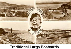traditional largs postcards icon