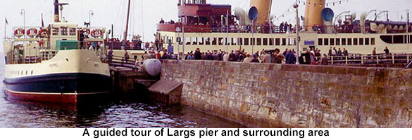 guded tour arround largs pier