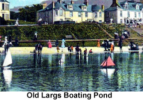 photos of old largs boating pond