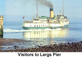 visitor to largs pier